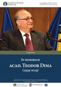 2019 Comemorare Teodor Dima Afis